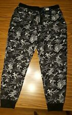 NWT Men's Polo Ralph Lauren Black/Grey Camouflage Thermal Jogger Pants LARGE