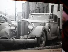 1934 Pro Photograph of Packard  taken in 1949 in Illinois rather beat up