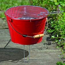 Robuster Eimergrill - rot, Minigrill Partygrill Grilleimer Strandgrill, Grill