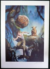 "ESL2020. STAR WARS ""Dagobah"" L/E 358/500 Boris Vallejo SIGNED Lithograph (1996)"