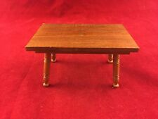 VINTAGE DOLLHOUSE MINIATURE FURNITURE-OLD STYLE HANDCRAFTED HARDWOOD FLAT TABLE