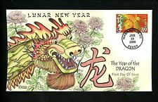 COLLINS HP FDC #3997e Chinese Lunar New Year of the Dragon Washington DC 2006