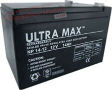 ULTRAMAX NP14-12, 12V 14AH (as 12Ah & 15Ah) EMERGENCY LIGHT LIGHTING BATTERY