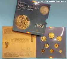 1999   COLECCION DE PESETAS.  BLISTER OFICIAL   ESPAÑA  JUAN CARLOS I  EUROPA