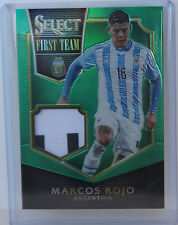 MARCOS ROJO 2015 Panini Select First Team Swatches Green card 1/5 Argentina SSP