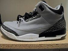 Nike Air Jordan Retro 3 III Wolfe Grey/Black Men's Size 11.5