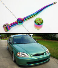 1988-00 HONDA CIVIC DUAL BEND NEO CHROME SHORT SHIFTER+ TYPE-R STYLE SHIFT KNOB