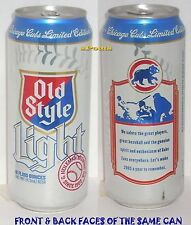 2005 CHICAGO CUB BASEBALL PLAYER-FAN SALUTE PINT HEILEMAN'S OLD S LIGHT BEER CAN