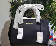 Genuine New Michael Kors Sutton Medium Black Saffiano Leather Tote Bag