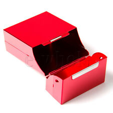 Red Aluminum Cigarette Box . . coloured metal case