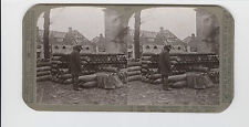 WWI Stereoview (Realistic) -11 inch shells abandoned by Germans across the Rhine