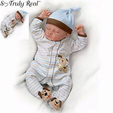 "Ashton Drake ""Sweet Dreams Danny"" Weighted Newborn Poseable Baby Doll"