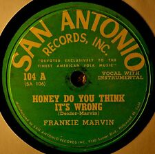 Frankie Marvin Honey Do You Think Wrong 78 Country Bopper Popcorn Poppin Mama