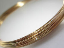 Gold Filled Half Round Wire 18 gauge (1.02mm) Soft 5ft