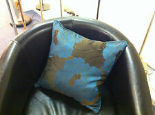 Teal And Brown Large Flower Evans Lichfield Cushion Cover