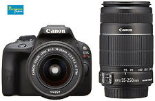 Canon EOS Kiss X7(Rebel SL1/EOS 100D)EF-S18-55mm&EF-S55-250mm Lens Kit Japan New