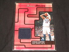 VINCE CARTER 2007 NETS BOWMAN CERTIFIED AUTHENTIC GAME USED JERSEY CARD RARE