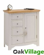 Barlestone Grey Painted Oak Linen Combination Cabinet / Storage Cupboard / New