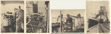 SET OF FOUR 1920S PHOTOS OF PEOPLE ON LARGE SHIP - MOZAMBIQUE