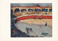"1955 Vintage Color Art Plate ""BULLFIGHT"" by PABLO PICASSO offset Lithograph"