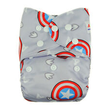 Alva Baby Adjustable Washable Reusable Pocket Cloth Diaper Nappy+1Insert  YA54