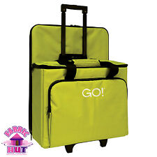 55251- New Improved AccuQuilt GO! Fabric Cutter Tote Travel Bag Green Case Quilt