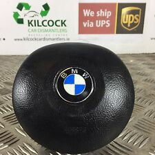 GENUINE BMW E39 E46 ROUND STEERING WHEEL AIRBAG BLACK 33109680803X FAST POSTAGE