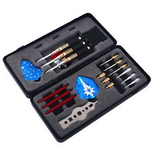 HOT Brass Cool DARTS SET Dart Stems 18g Flights (9) +Steel +Case Gift