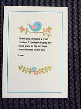 Forget Me Not Seeds Teacher Thank You Gift  End of Term