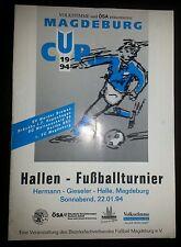 Programm 1994 Hallentunier 1.FC Magdeburg Werder Bremen Hertha BSC Bröndby IF