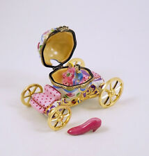 NEW FRENCH LIMOGES BOX AMAZING CINDERELLA 'S CARRIAGE COACH W CINDERELLA PRINCE