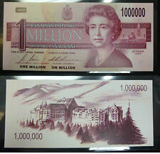 NOVELTY CANADIAN $1,000,000 MILLION DOLLAR BILL / NOTE / PAPER MONEY GAG GIFT