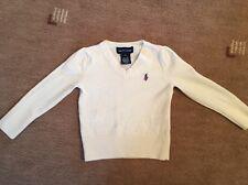 Ralph LAUREN Bebé Crema Jersey de lana 100% 2T (18-24 meses)