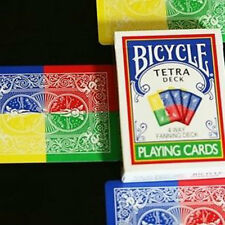 Tetra Deck - Bicycle Playing Cards - 4 Way Fanning Deck - Magic Tricks - New