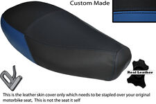 ROYAL BLUE & BLACK CUSTOM FITS PIAGGIO VESPA ET2 ET4 125 DUAL SEAT COVER