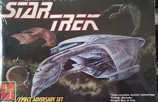 "SEALED~NIB~AMT/ERTL~""STAR TREK~3 Piece ADVERSARY SET""~Model Kit~#6658~Circa 1989"