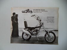 advertising Pubblicità 1972 MOTO MILANI CHOPPER 50