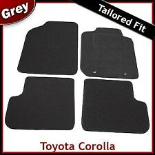 Toyota Corolla Tailored Fitted Carpet Car Mats GREY (2002...2004 2005 2006 2007)