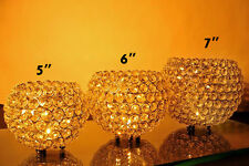 Glass Crystal Bling Wedding Centerpieces Votive Tealight Candle Holders Size 6""