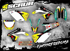 SCRUB Suzuki RMz 250 2007-2009 Grafik Sticker Dekor-Set '07-'09
