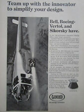 1/1972 PUB LORD ELASTOMER TECHNOLOGY BOEING BELL SIKORSKY LASTOFLEX BEARING AD