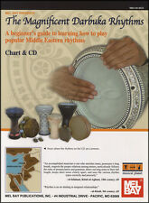 The Magnificent Darbuka Rhythms Chart with CD Hand Drum Method Learn How To Play