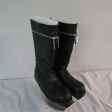 Victoria's Secret Zipper Accent Slip On Calf  Polyurethane Boot Black 9B NWOB
