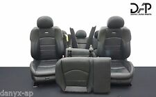 ✔DAP W211 MERCEDES 07-09 E63 AMG FRONT REAR SEATS BLACK LEATHER W SUEDE #11
