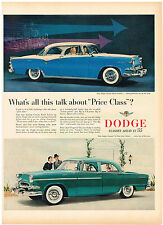 Vintage 1955 Magazine Ad For Dodge Big In V8 Power & Luxury / Waxed Paper