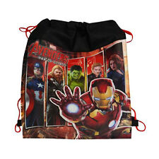 6 MARVEL AVENGERS Kids Sling Bag Tote Drawstring Backpack BIRTHDAY PARTY FAVORS