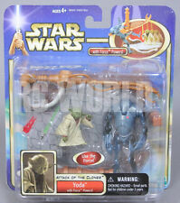 STAR WARS Attack Of The Clones YODA W/ Force Powers   *SEALED* #MB2