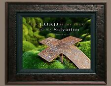 Bible Scripture Verse Picture The Lord Is My Rock (8X10) New Print Photo Jesus