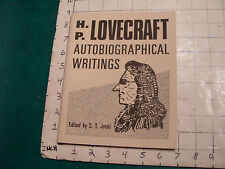 UNREAD: H P Lovecraft Autobiographic writings NECRONOMICON PRESS 1st 1992
