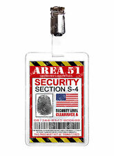 Area 51 Security Alien ID Badge Card Cosplay Prop Costume Comic Con